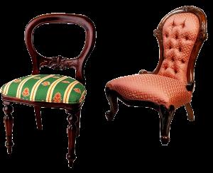 Fit auf dem Stuhl